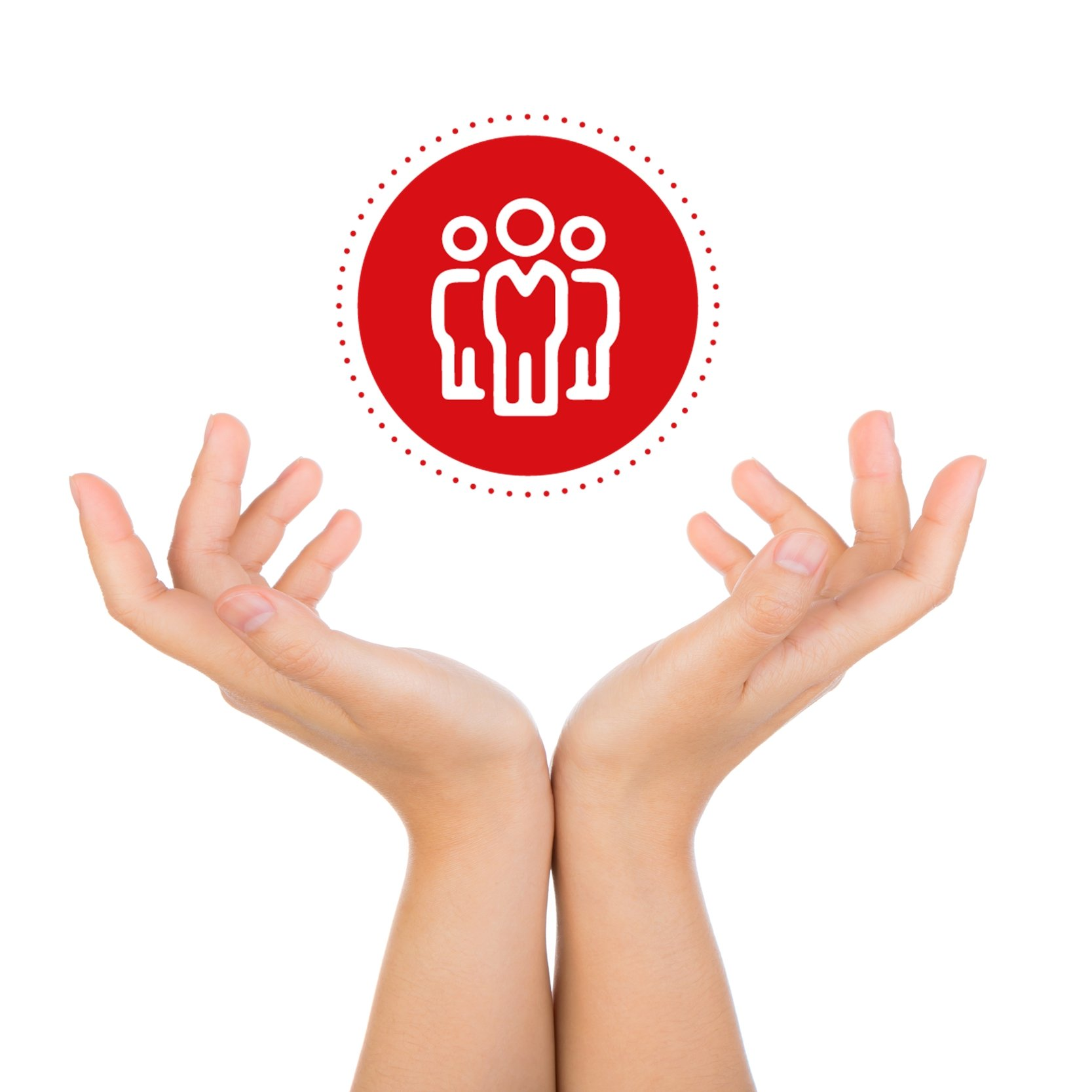 manos e icono - Diferenciadores KOM